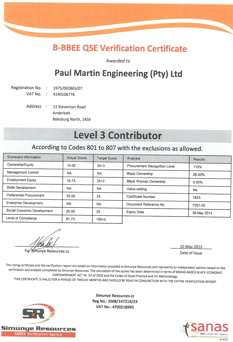 About paul martin engineering bee certificate xflitez Choice Image